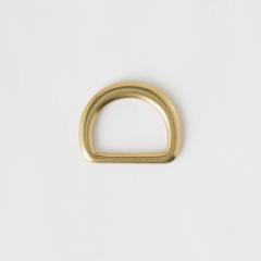 純銅半圓提耳 黃銅色 25mm 2個