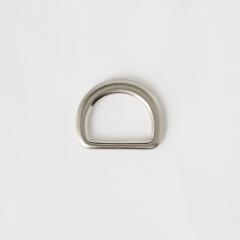 純銅半圓提耳 銀色 25mm 2個