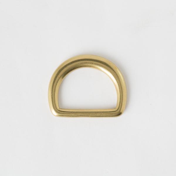 純銅半圓提耳 黃銅色 30mm 2個