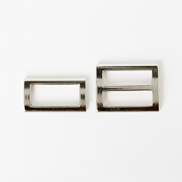 日型帶環組 銀色 25mm 2件式
