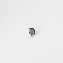 進口L型皮包鎖釦 銀色 15mm