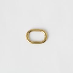 純銅蛋型提耳 黃銅色 20mm 2個