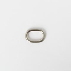 純銅蛋型提耳 鎳白色 20mm 2個