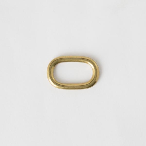 純銅蛋型提耳 黃銅色 25mm 2個