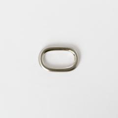 純銅蛋型提耳 鎳白色 25mm 2個