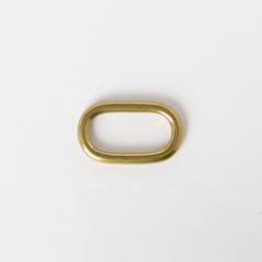 純銅蛋型提耳 黃銅色 30mm 2個