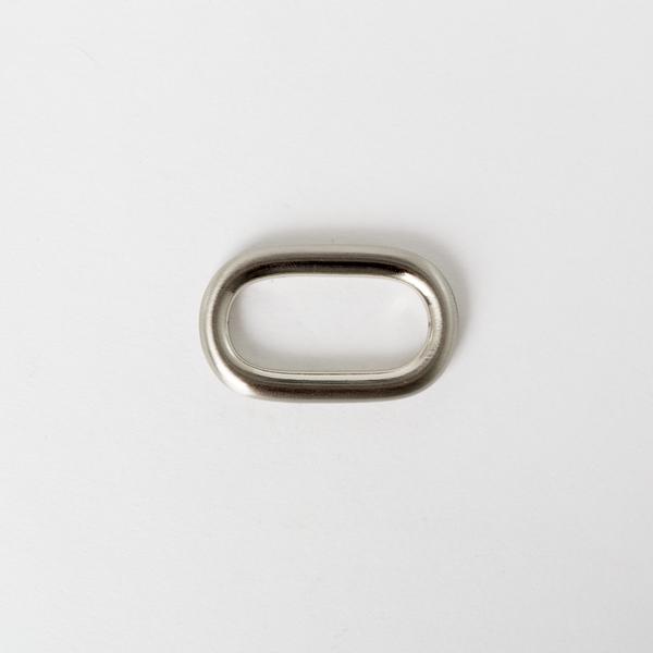 純銅蛋型提耳 鎳白色 30mm 2個