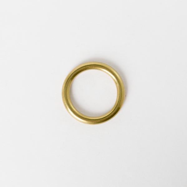 純銅圓提耳 黃銅色 25mm 2個