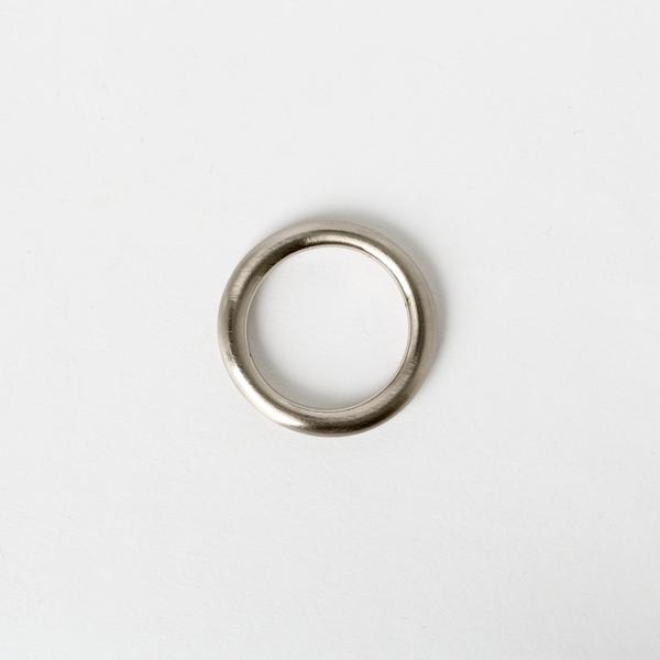 純銅圓提耳 鎳白色 25mm 2個