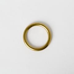 純銅圓提耳 黃銅色 30mm 2個