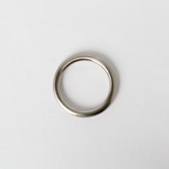 純銅圓提耳 鎳白色 30mm 2個