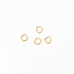 Japanese D-Ring Gold 6x1.5mm 4 Pieces