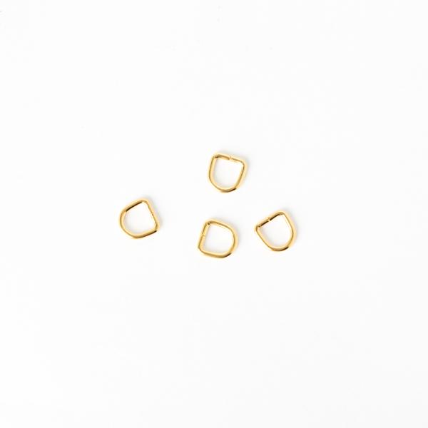 日製皮片D環 金色 6x1.5mm 4個