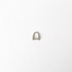 日製皮片D環 霧銀色 7mm