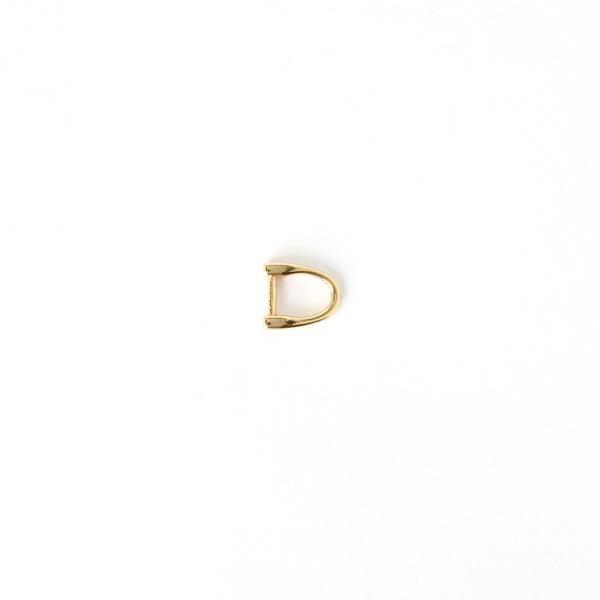 日製皮片D環 金色 7mmx1.5mm