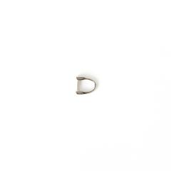 日製皮片D環 銀色 7mmx1.5mm