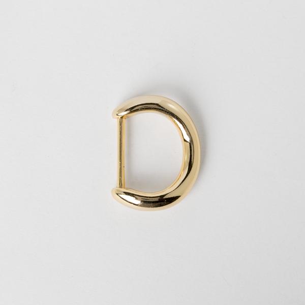 日製弧形D環 金色 24mm