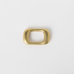 日製方提耳環 純銅黃銅色 22mm