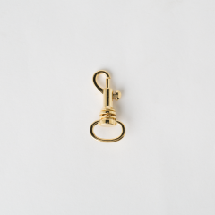 Swivel Eye Bolt Snap Gold 1.3cm 2 Pieces