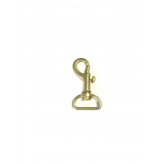 Swivel Eye Bolt Snap Brass 2cm 2 Pieces