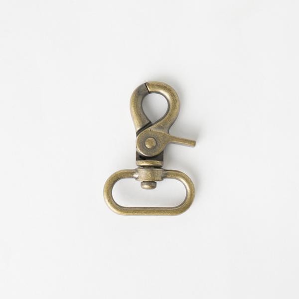 粗活動鉤 銅色 2.5cm 2個