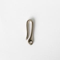 純銅小復古鉤 鎳白色 48*12mm