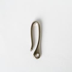 純銅中復古鉤 鎳白色 59.5x12mm