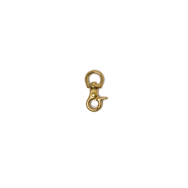 純銅活動鉤 黃銅色 8x34mm 1個入 剪刀型