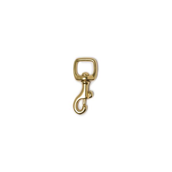 純銅活動鉤 黃銅色 12.5x48mm 1個入 直壓型