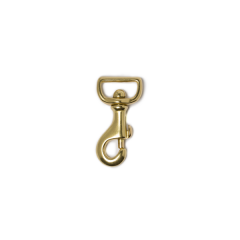 純銅活動鉤 黃銅色 21x55mm 1個入 直壓型