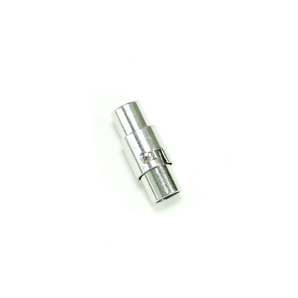 磁吸式手鍊.項鍊釦 4mmX16mm 銀色 5入