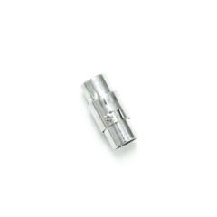 磁吸式手鍊.項鍊釦 5mmX16mm 銀色 5入