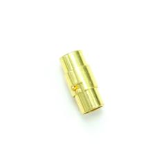 磁吸式手鍊.項鍊釦 6mmX17.5mm 金色 5入