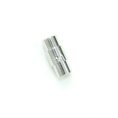 磁吸式手鍊.項鍊釦 6mmX17.5mm 銀色 5入