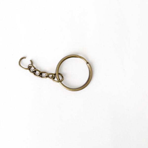 鑰匙環 銅色 4入