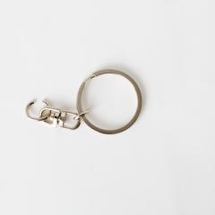鑰匙環附鉤 銀色 2組