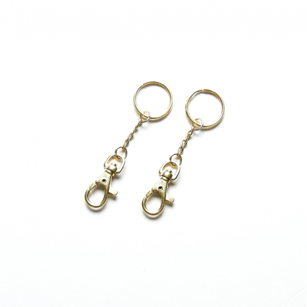 Key Ring Brass 2 Pieces