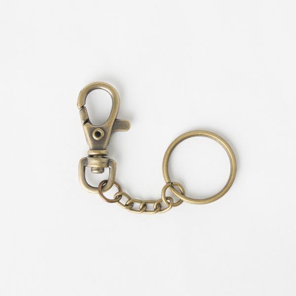 鑰匙環附鉤 銅色 2組
