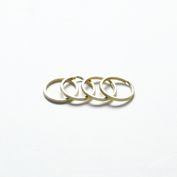 Key Ring Brass 30mm 4 Pieces