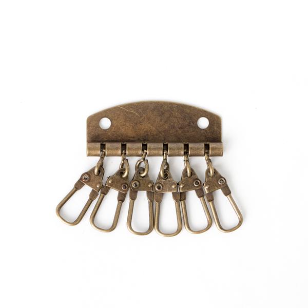 六鉤鑰匙圈 銅色