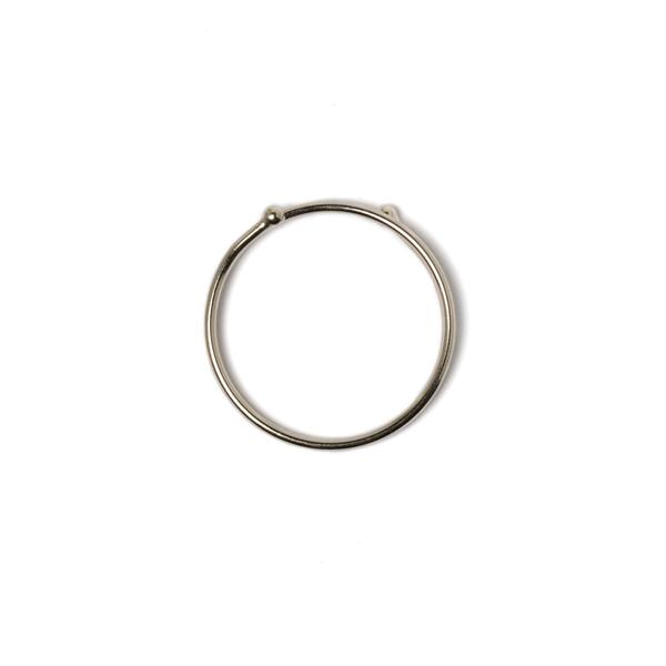 日製易扣鑰匙圈 鎳白色 中 28mm
