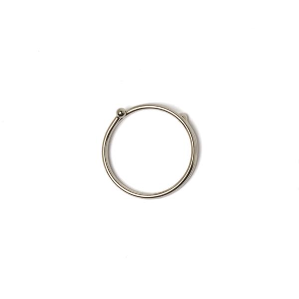日製易扣鑰匙圈 鎳白色 大 33mm