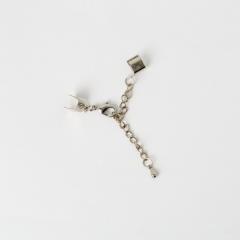 ネックレス頭 銀色 内径6mm+12mm4入 固定価格