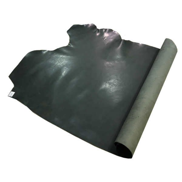 Glossy dark green leather  SIDE 1.3/1.4mm